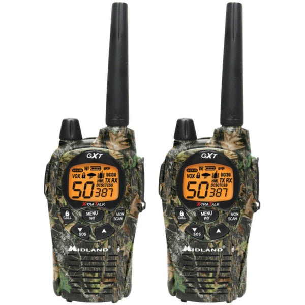MIDLAND GXT1050VP4 36-Mile Camo GMRS Radio Pair Pack with Batteries & Drop-in Charger