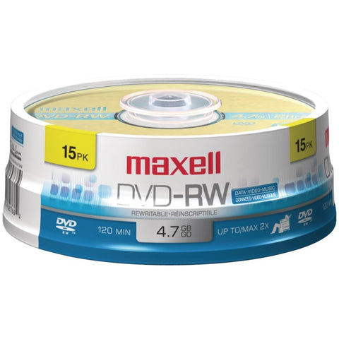 MAXELL 635117 4.7GB DVD-RWs (15-ct Spindle)