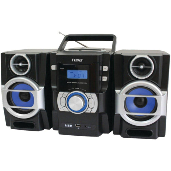 NAXA NPB429 Portable CD-MP3 Player with PLL FM Radio, Detachable Speakers & Remote