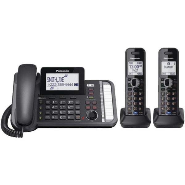 PANASONIC KX-TG9582B DECT 6.0 1.9 GHz, Link2Cell(R), 2-Line Digital Cordless Phone (2 Handsets)