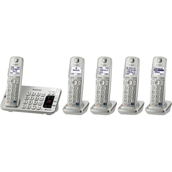 PANASONIC KX-TGE275S DECT 6.0 Link2Cell(R) Bluetooth(R) Phone System (5-Handset System)