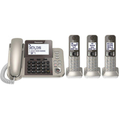 PANASONIC KX-TGF353N DECT 6.0 Corded-Cordless Phone System with Caller ID & Answering System (3 Handsets)