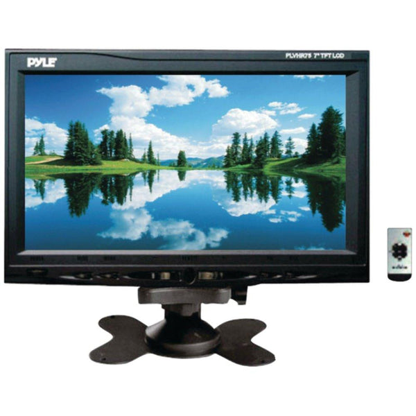 PYLE PLVHR75 7 Headrest Monitor with Stand & Headrest Shroud
