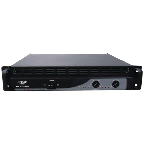 PYLE PRO PTA3000 Professional Power Amp (3,000 Watt with Built-in Crossover)