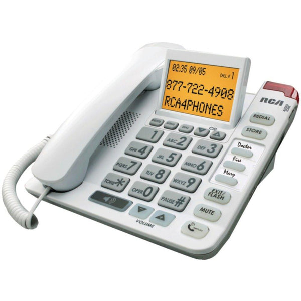 RCA 1124-1WTGA Legend Series Amplified Big-Button Corded Phone with Caller ID