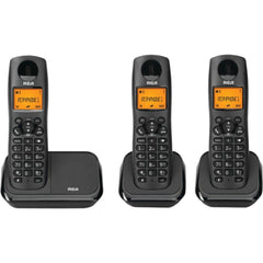 RCA 2161-3BKGA Element Series DECT 6.0 Cordless Phone with Caller ID (3-Handset System)