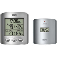 TAYLOR 91756 Wireless Thermometer with Indoor-Outdoor Humidity & Clock