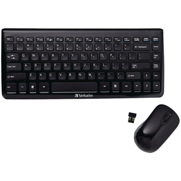 VERBATIM 97472 Mini Wireless Slim Keyboard & Mouse