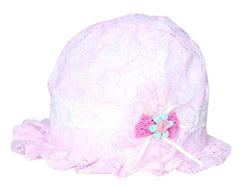 Baby Hats Girls Princess Hat Breathable Hat Comfortable Hat Mesh Hat Lace Flower