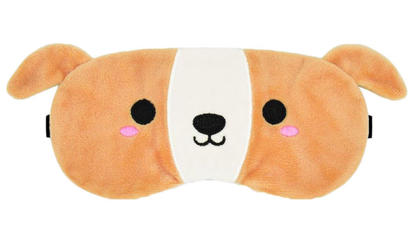 Cute Dog Design Plush Soft Eye Mask