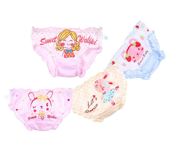 4 Packs Cartoon Cotton Baby Girls Bloomers