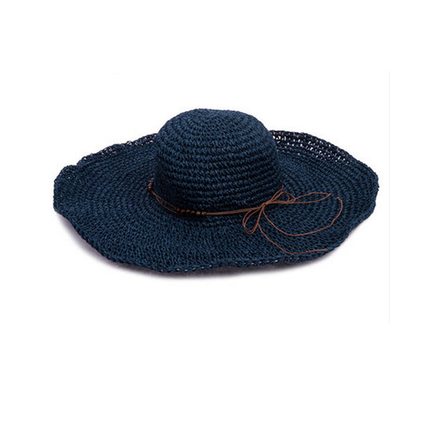Wide Brim Straw Sun Hat Beach Caps And Hats For Ladies/Girls