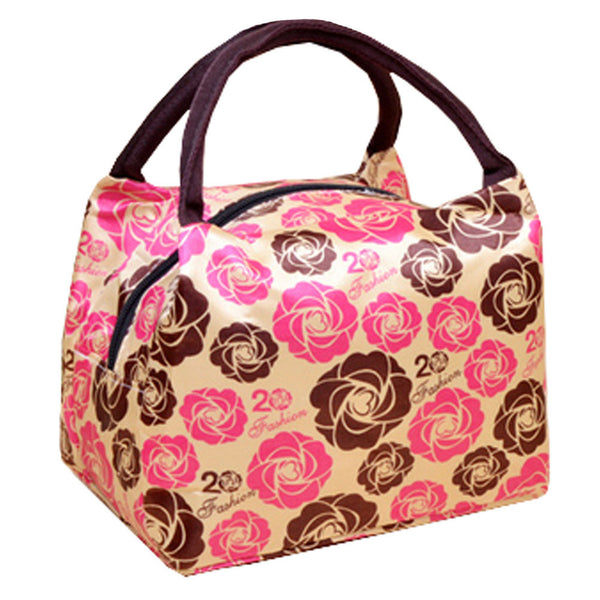 Reusable Lunch Tote Bag Lunch Bag Lunch Box Organizer, Flowers