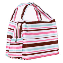Womens Reusable Lunch Bag Lunch Box Holder Durable Lunch Tote Bag, Pink