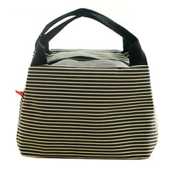 New Arrival 2017 Simple Style Reusable Black Stripe Lunch Bag Box Holder