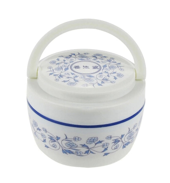 Blue & White Porcelain Double-deck Lunch Box Japanese Microwave Bento Boxes