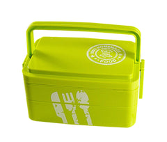Three Layers Lunch Box Lovely Students Portable Bento Boxes GREEN