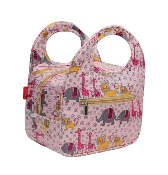 Lovely Animal Insulated Lunch Box Bag Fashion Lunch Tote Bags PINK