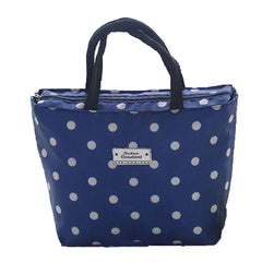 High Capacity The Bag of Lunch Box/Bags(Blue Dot,Free)