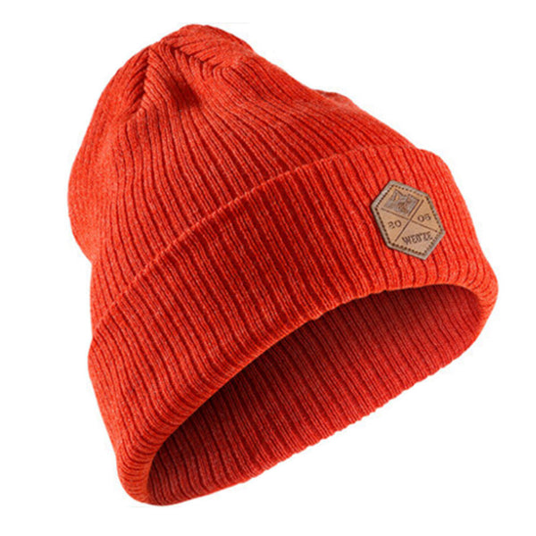 Red Comfortable Knit Hat For Unisex,Sports Cap Warm Beanie Cap For Skiing Hiking