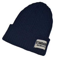 Warm Winter Beanie Hat Skully Hat Snow Cap Knitted Hats - Navy