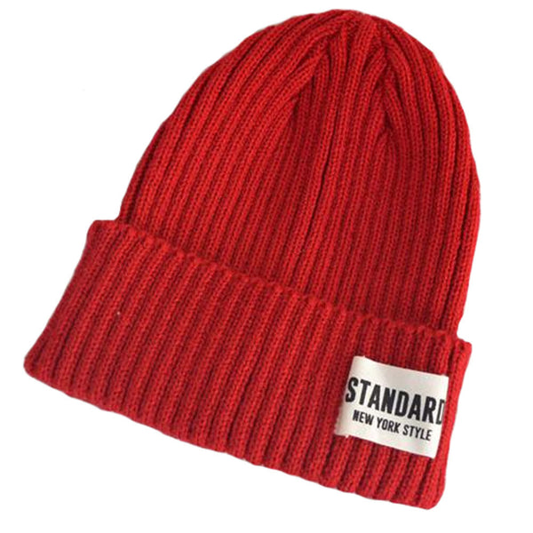 Red Fashion Warm Beanie Hat Knitted Hats Skully Hat Ski Snow Cap Winter