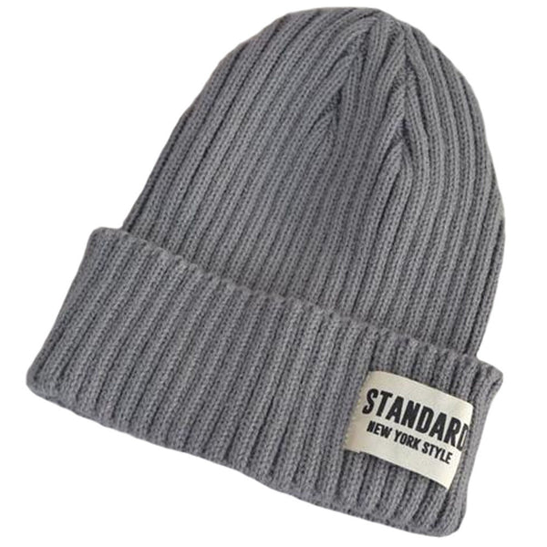 Unisex Warm Beanie Hat Skully Hat Winter Knitted Hats and Caps, Grey