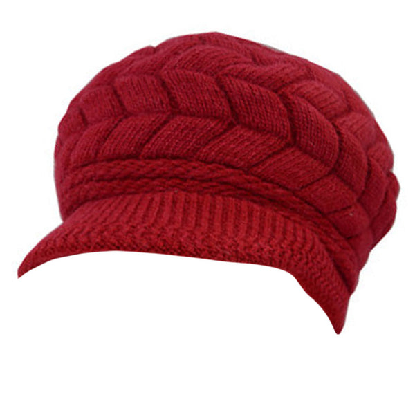Winter Outdoors Windproof Snow Cap Super Warm Hat Thicken Villus Hat Red