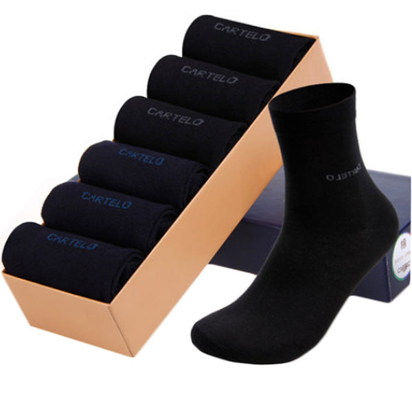 Set of 6 Men's Casual/At Work Thin section Summer Socks-3Black/3Navy