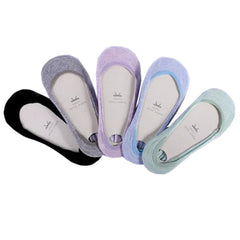 Women's 5 Pairs Cotton Pack Low cut/No-show Causal Socks