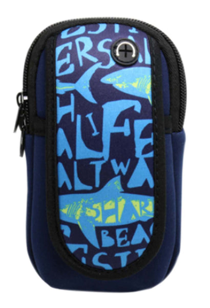Blue Outdoor Sports Jogging Arm Package Mobile Phone Wrist Bag