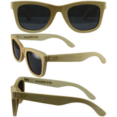 Bamboo Wayfarer, Naturally Floating Polycarbonate Lens Sunglasses