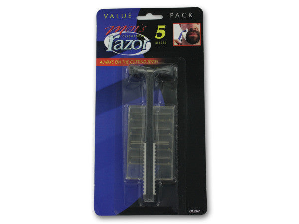 Men's Disposable Razor with Extra Blades: Case of 144