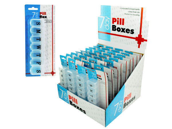 7 Day Pill Box Countertop Display: Case of 36