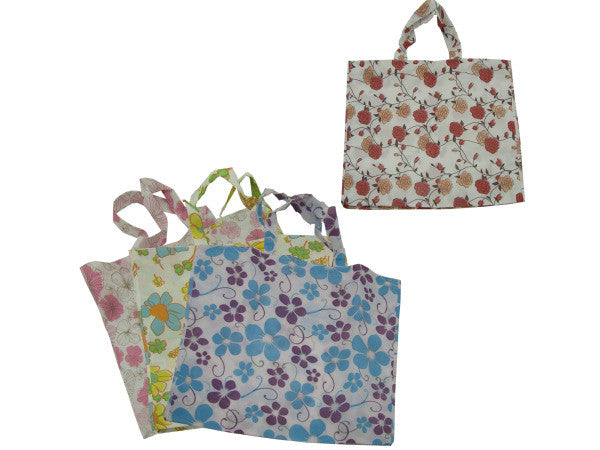 Large Flower Tote Bag: Case of 24