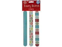 Holiday Print Emery Boards: Case of 18