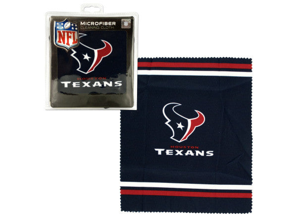 Houston Texans Microfiber Eyeglass Cleaning Cloth: Case of 24