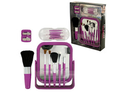 Cosmetic Brush & Applicator Set: Case of 4