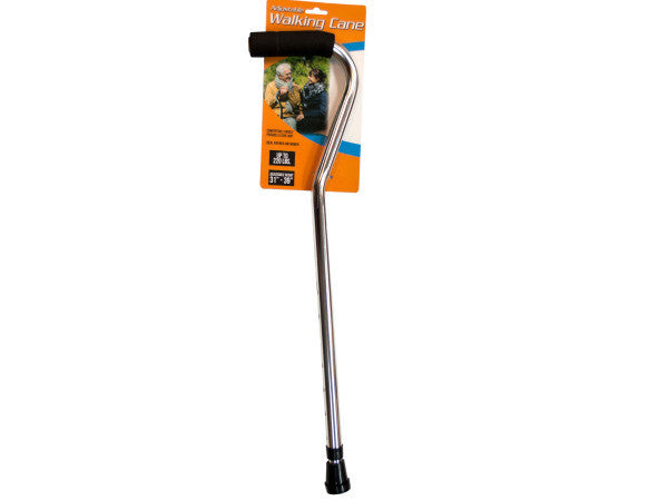Adjustable Walking Cane with Foam Grip: Case of 1