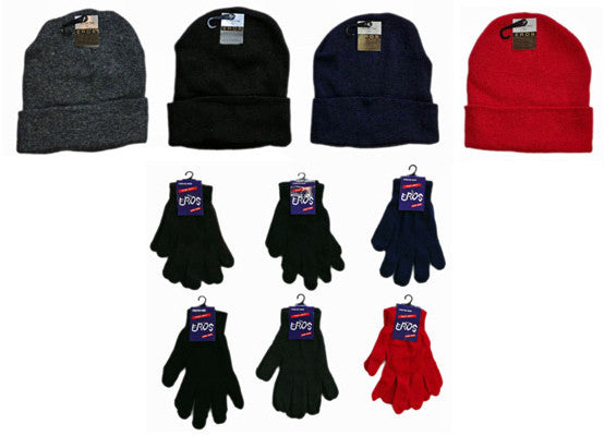 Winter Hats and Gloves Combo Case Pack 120