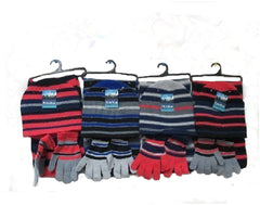 Striped Hat, Glove & Scarf Sets - One Size Case Pack 72