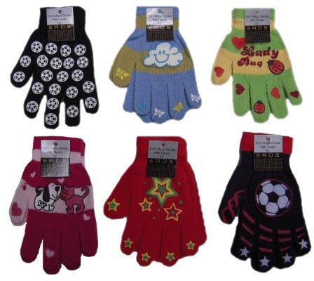 Kids Magic Gloves with Decals Case Pack 120