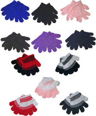 Toddler's Magic Stretch Gloves Assortment Case Pack 72