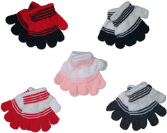 Toddler's Magic Stretch Gloves - Striped Case Pack 72