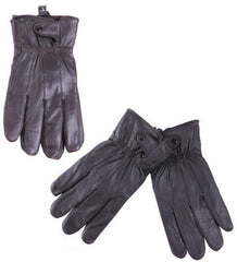 Men's Leather Gloves w/ Snap Closure Case Pack 72