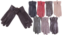 Women's Leather Gloves w/ Studs Case Pack 72