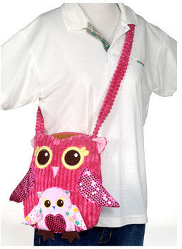Girly Trendy Fashion Pink Owl Shoulder Bag Case Pack 12 - 11