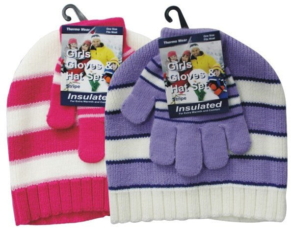 Girls Winter Hat and Glove Set Case Pack 120