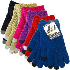 Winter Knitted Touch Gloves Case Pack 144