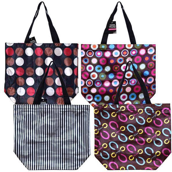 New Hot Sale Striped Hand Bags for Ladies - Assorted Colors Case Pack 48